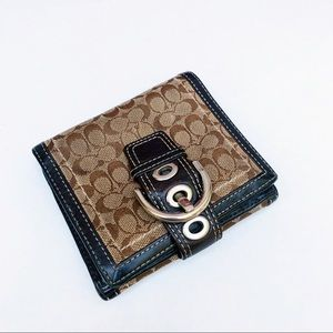 Coach Canvas Trifold Wallet